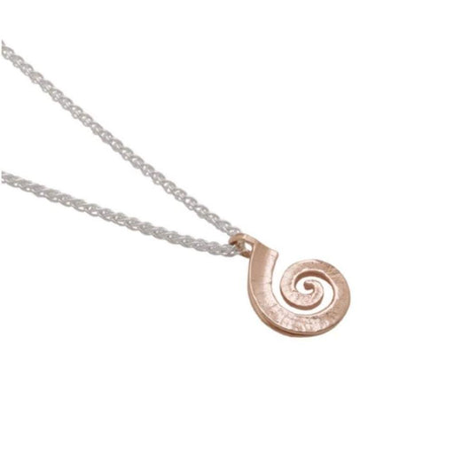 Collette Waudby Pendant Collette Waudby rose gold and silver medium spiral dreki pendant