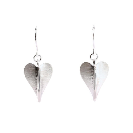 Collette Waudby Earrings Collette Waudby Silver botanica heart hook earrings