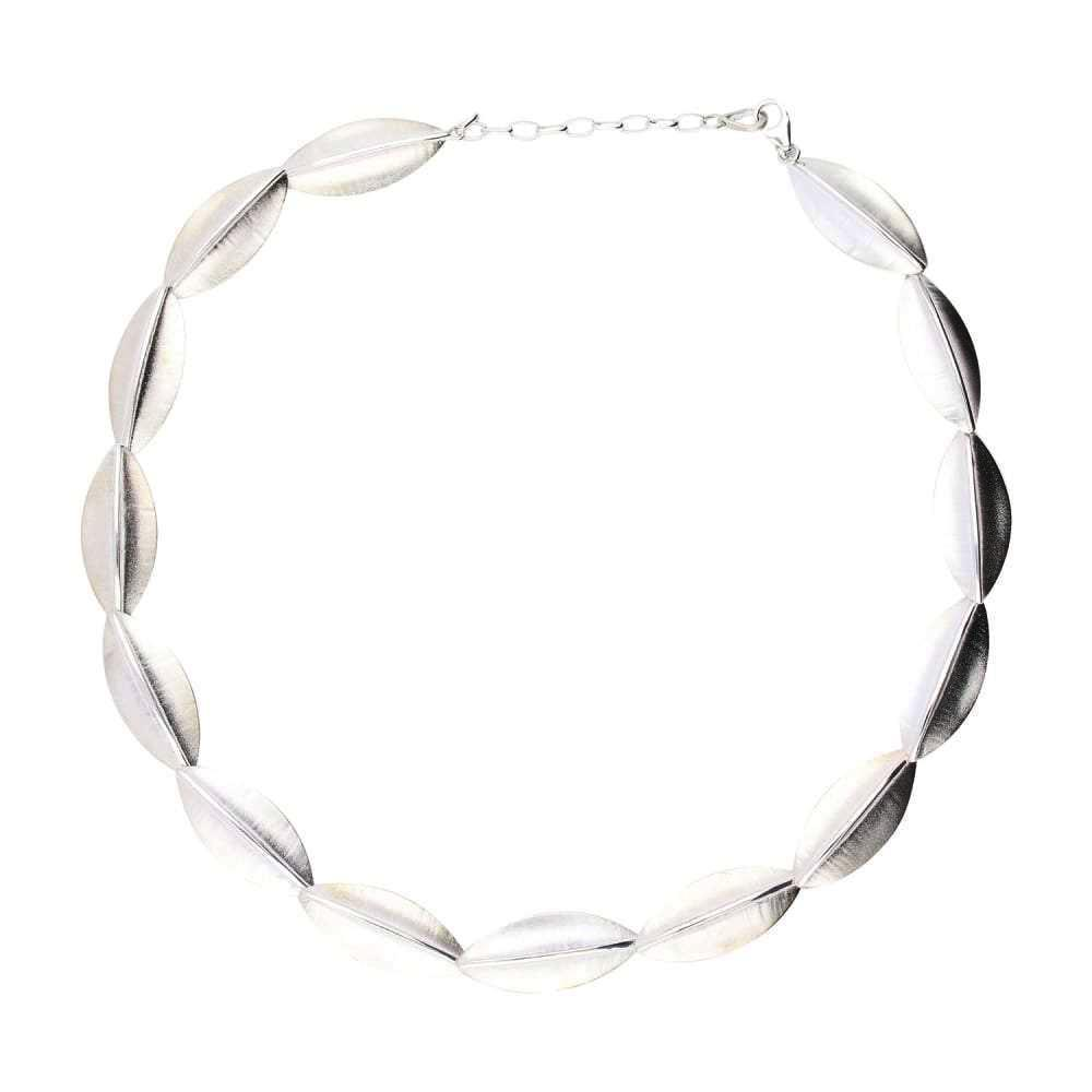 Collette Waudby Necklace Collette Waudby Silver botanica large link necklace