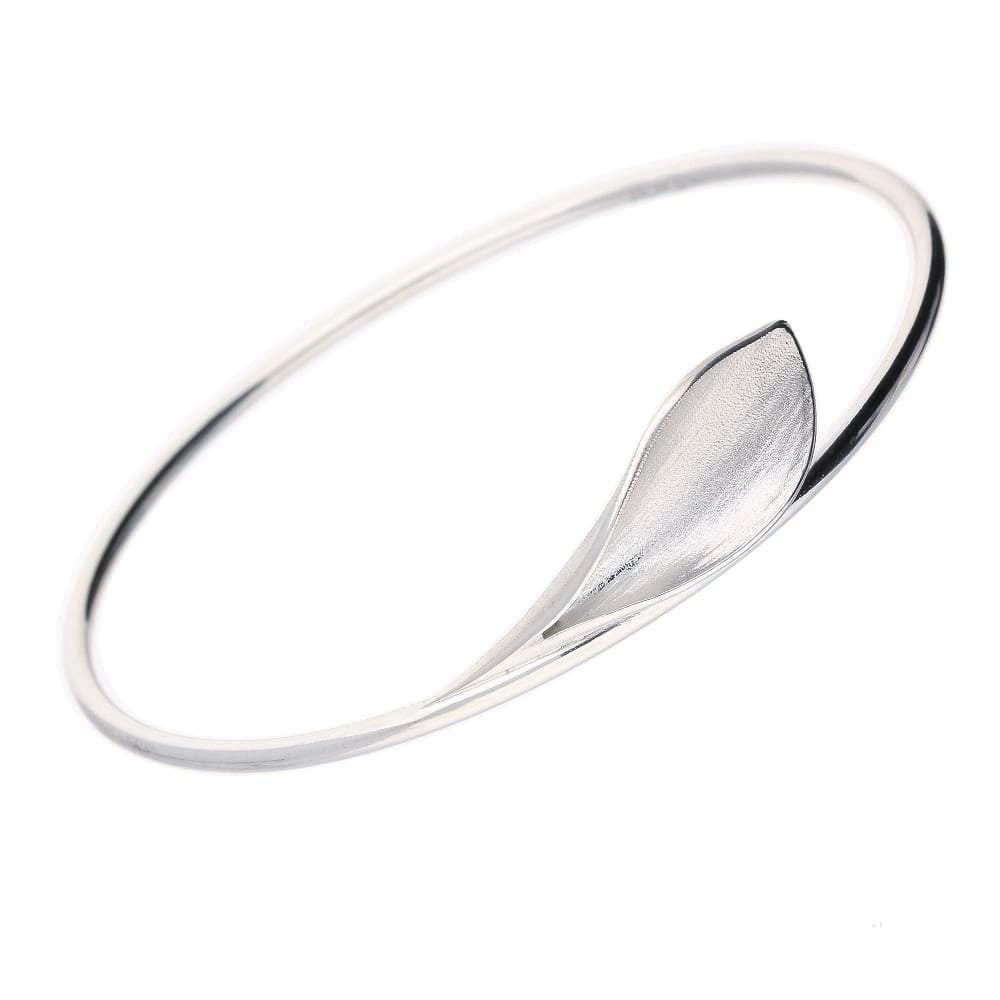 Collette Waudby Bangle Collette Waudby Silver calla lilly bangle
