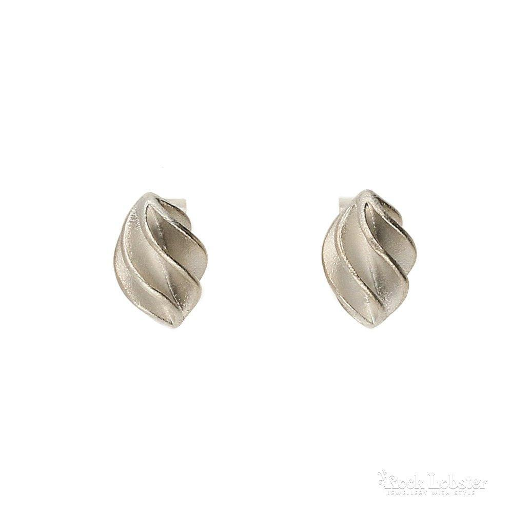 Collette Waudby Earrings Collette Waudby Silver globe stud earrings