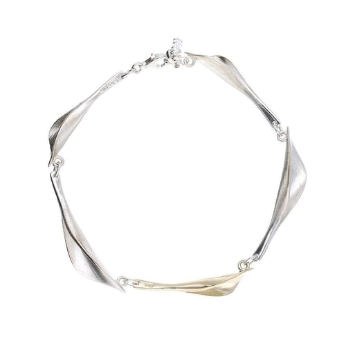 Collette Waudby Bracelet Collette Waudby Silver gold calla lilly bracelet