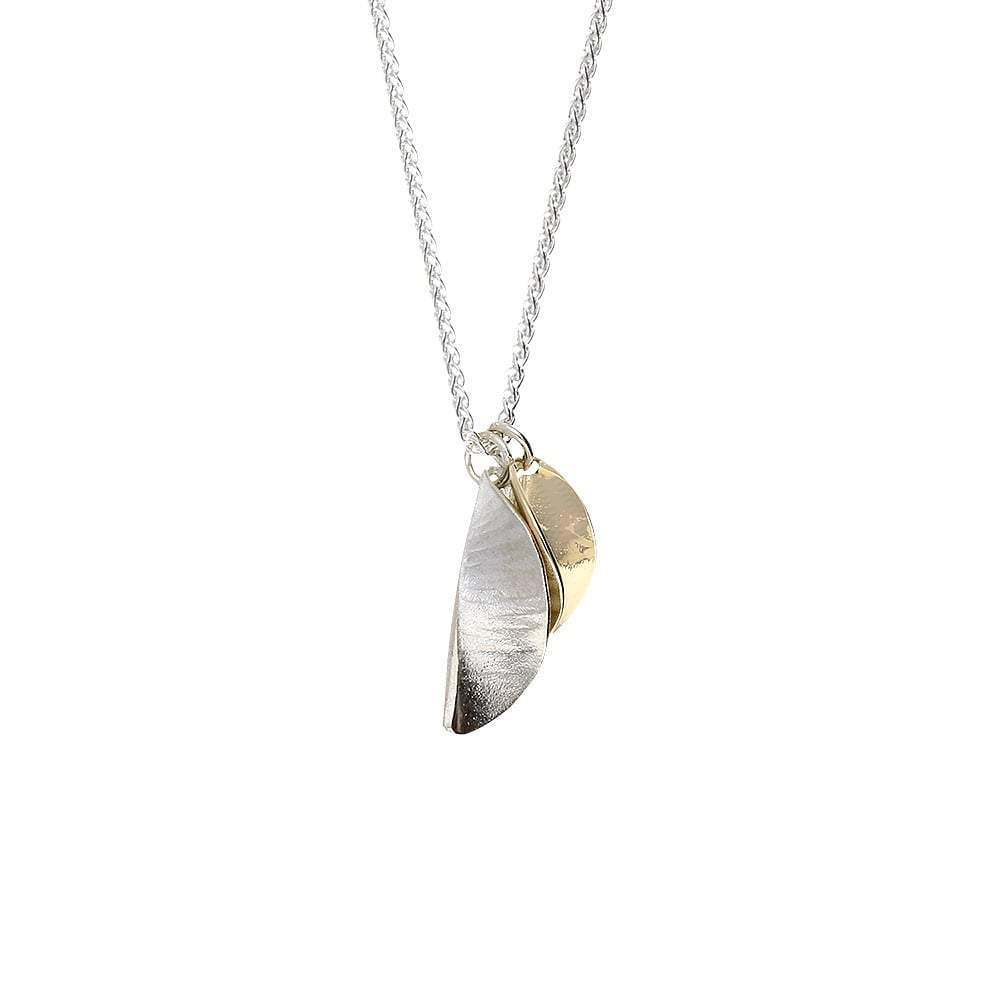 Collette Waudby Pendant Collette Waudby Silver gold double leaf pendant