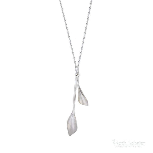 5097bd23f Collette Waudby Pendant Collette Waudby Silver long double leaf pendant