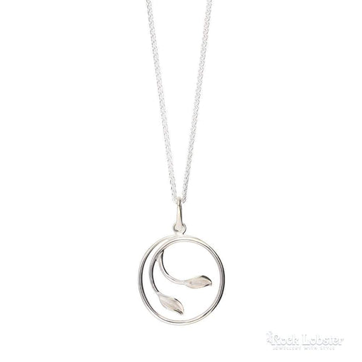 Collette Waudby Pendant Collette Waudby Silver medium leaf hoop pendant