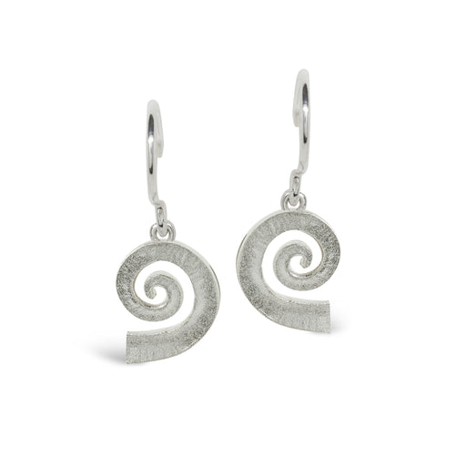 Collette Waudby Earrings Collette Waudby Silver medium spiral dreki hook earrings