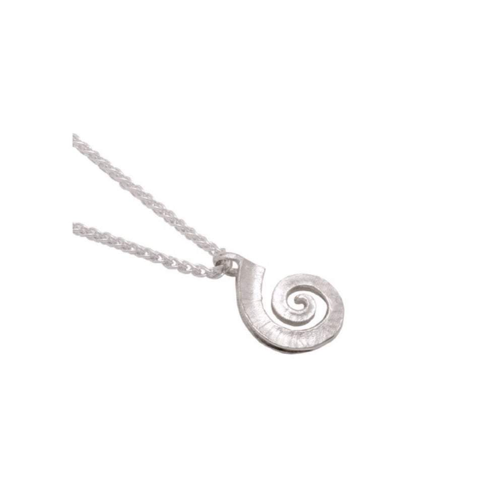Collette Waudby Pendant Collette Waudby Silver medium spiral dreki pendant