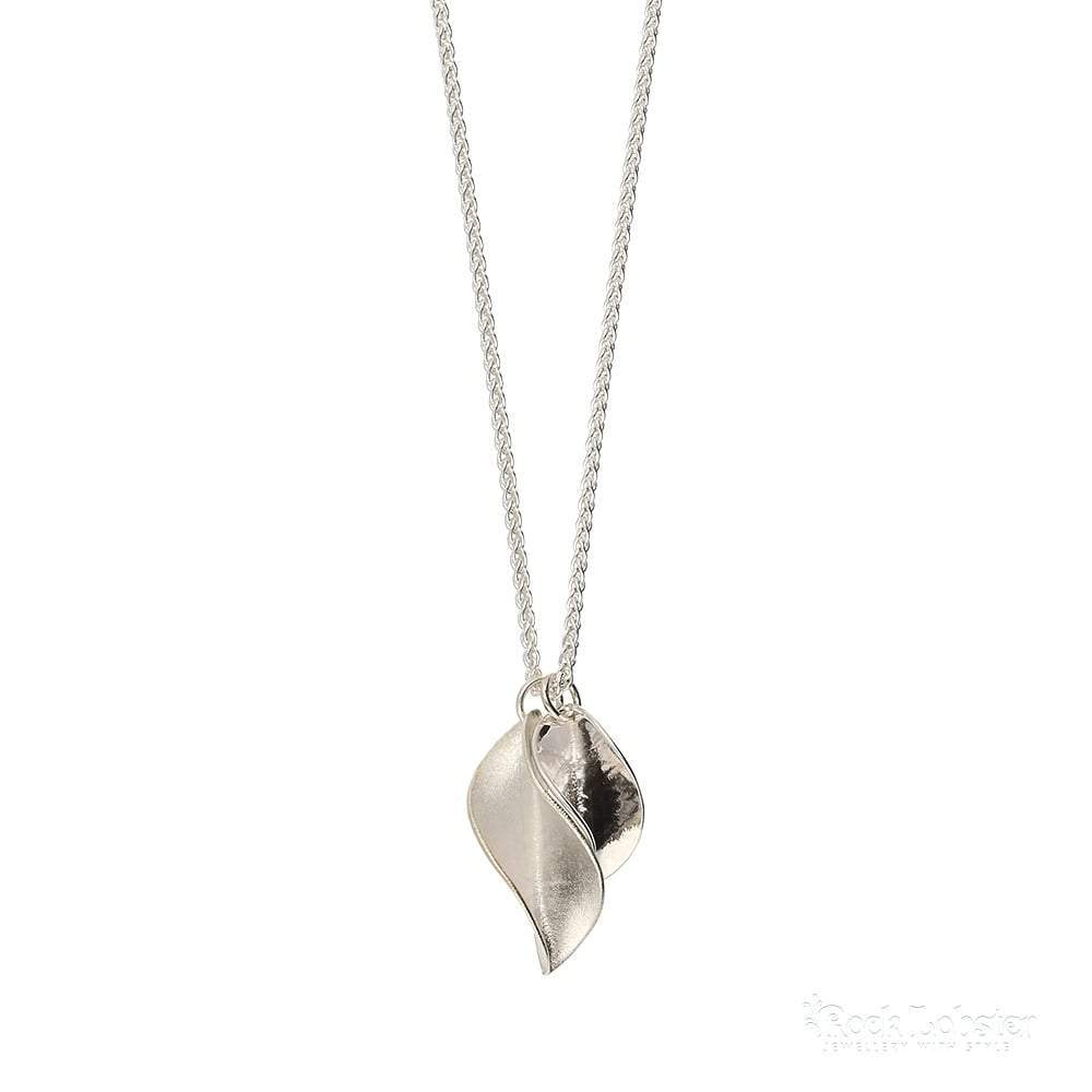 Collette Waudby Pendant Collette Waudby silver short double leaf pendant