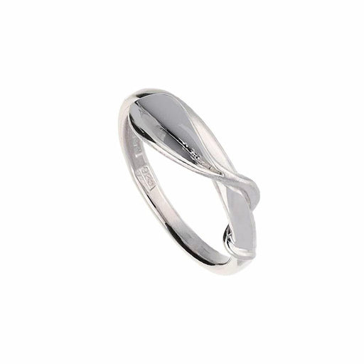 Collette Waudby Ring Collette Waudby Silver twisted leaf ring