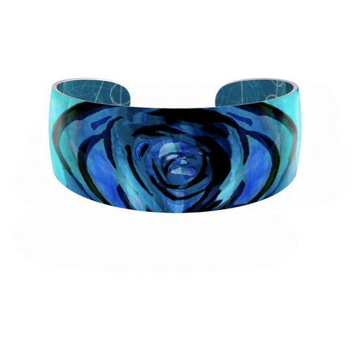 Aluminium Designs rose blue bangle