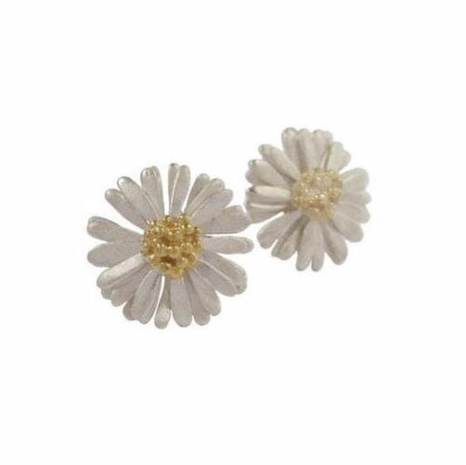 Daisies & Sunflowers Earrings Silver 14mm daisy stud earrings