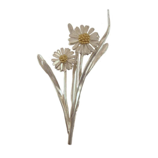 Daisies & Sunflowers Brooches Silver daisy flower brooch