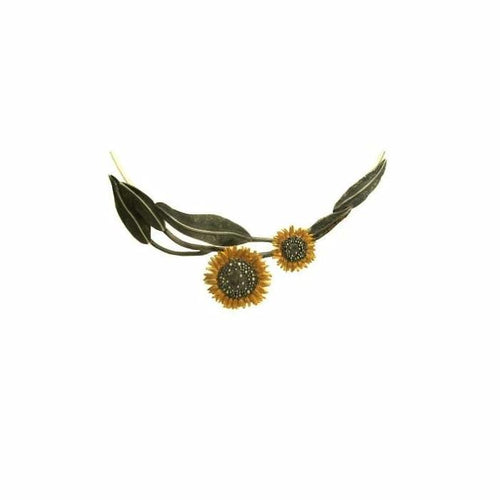 Daisies & Sunflowers Necklace Silver sunflower neckwire necklace