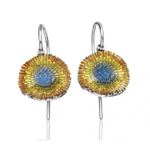 Daniel Vior Earrings Daniel Vior Silver enamel basia solaris hook earrings