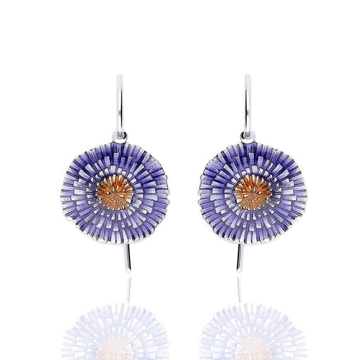 Daniel Vior Earrings Daniel Vior Silver purple orange enamel basia solaris drop earrings