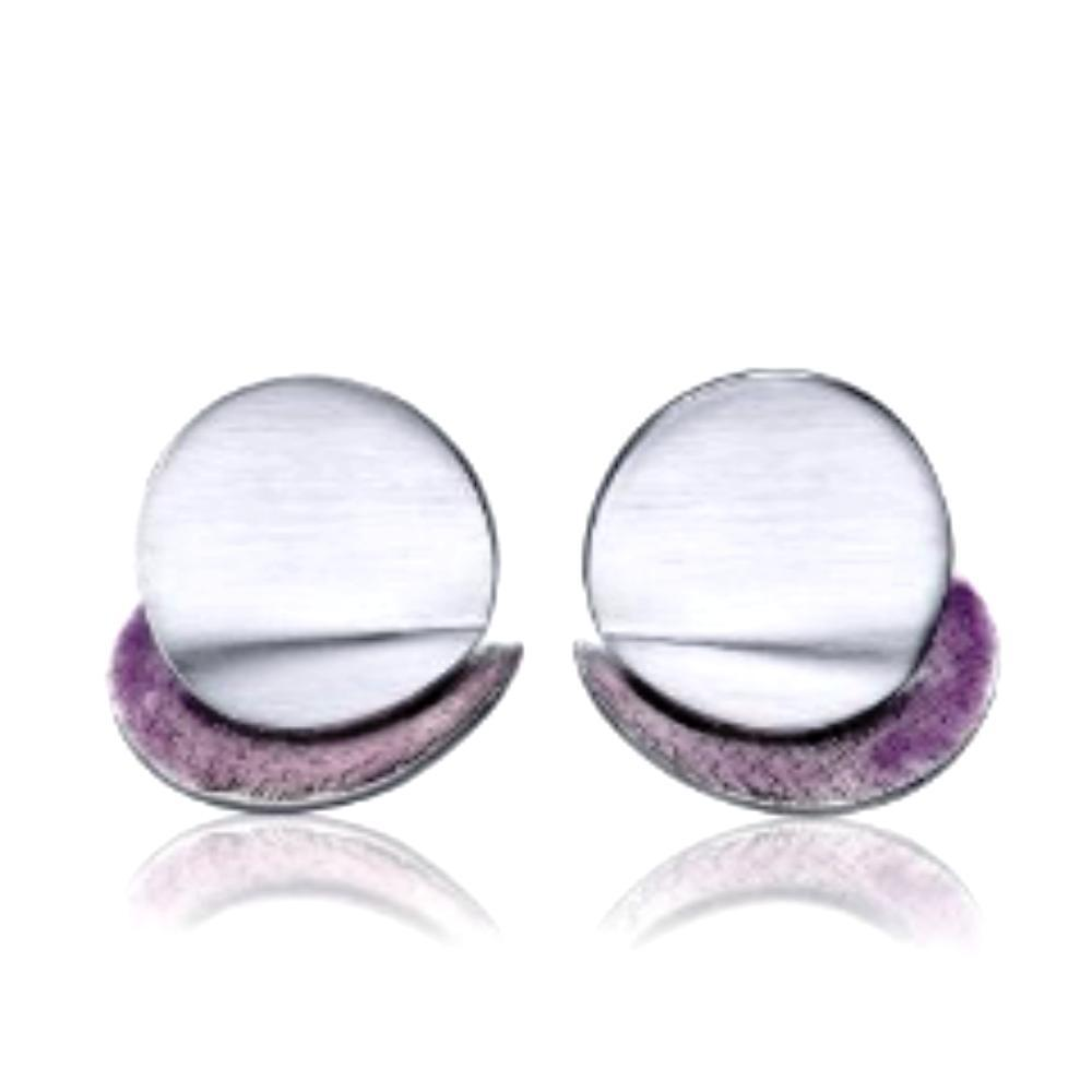 Daniel Vior Earrings Daniel Vior Silver violet enamel diledra stud earrings