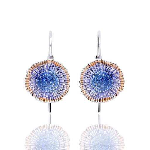 Earrings Daniel Vior Silver blue enamel Basia Solaris earrings