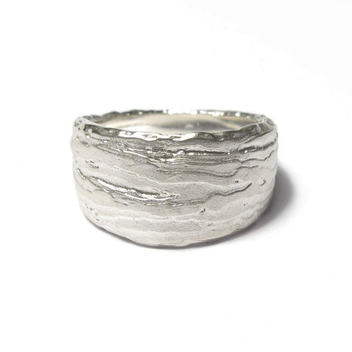Diana Porter Ring Diana Porter Silver textured tapered ring