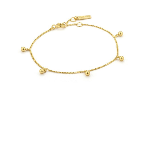 Ania Haie Gold orbit drop balls bracelet