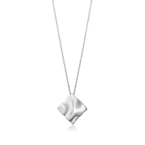 Ania Haie Silver crush square necklace