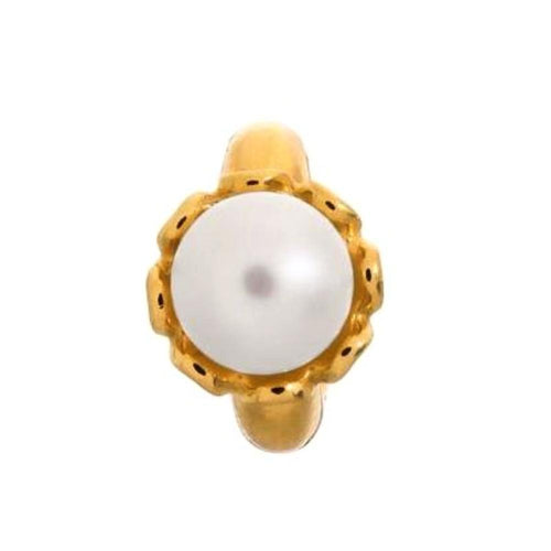 Endless Charm Endless gold white pearl flower charm