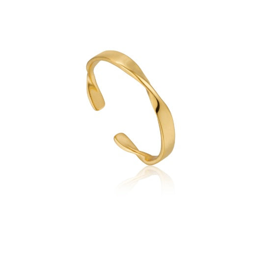 Ania Haie Gold helix thin adjustable ring
