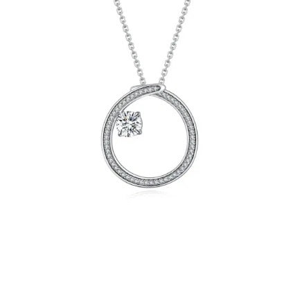 Fei Liu Silver and CZ radiance swirl pendant