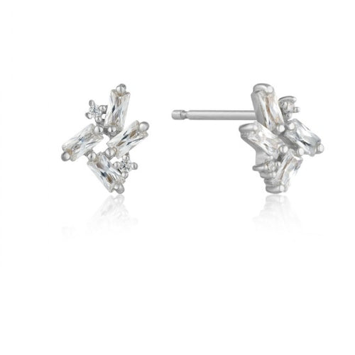 Ania Haie Silver and CZ cluster stud earrings