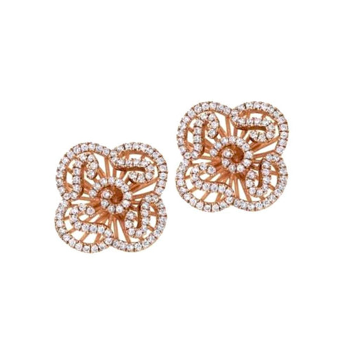 Fei liu Earrings Fei Liu rose gold cascade stud earrings