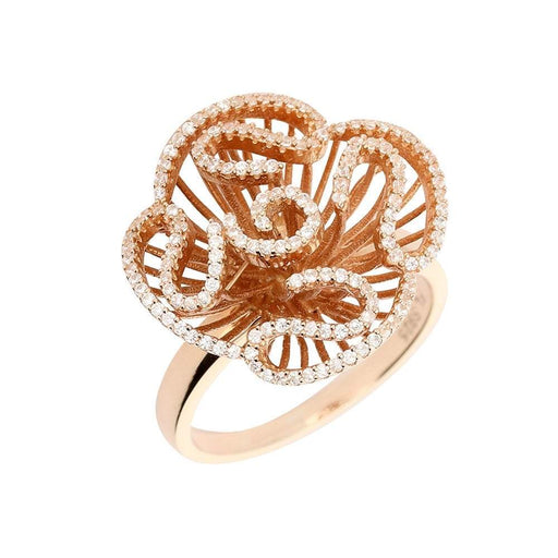 Fei liu Ring Fei Liu rose gold plate cascade ring