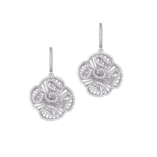 Fei liu Earrings Fei Liu Silver and cubic zirconia cascade drop earrings