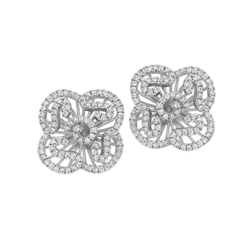 Fei liu Earrings Fei Liu Silver and cubic zirconia mini cascade stud earrings