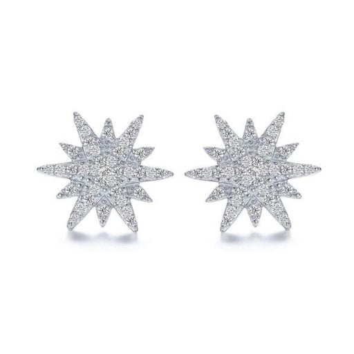 Fei liu Earrings Fei Liu Silver festive star stud earrings