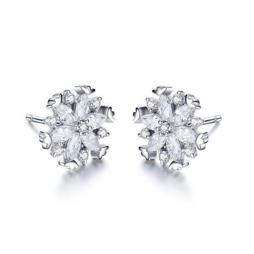Fei liu Earrings Fei Liu Silver kaleidoscope snowflake stud earrings