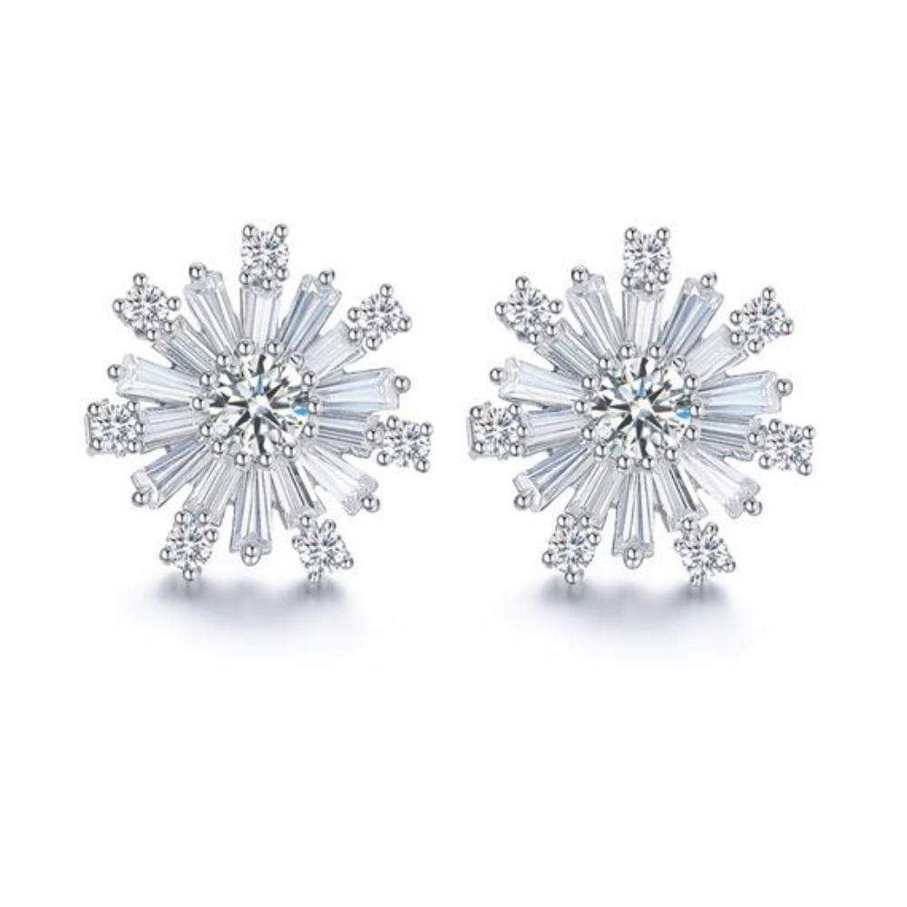 Fei liu Earrings Fei Liu Silver majestic snowflake stud earrings