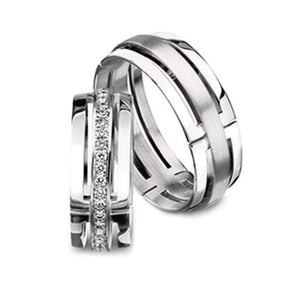 Furrer Jacot Ring 18ct white gold detailed sculptures wedding band