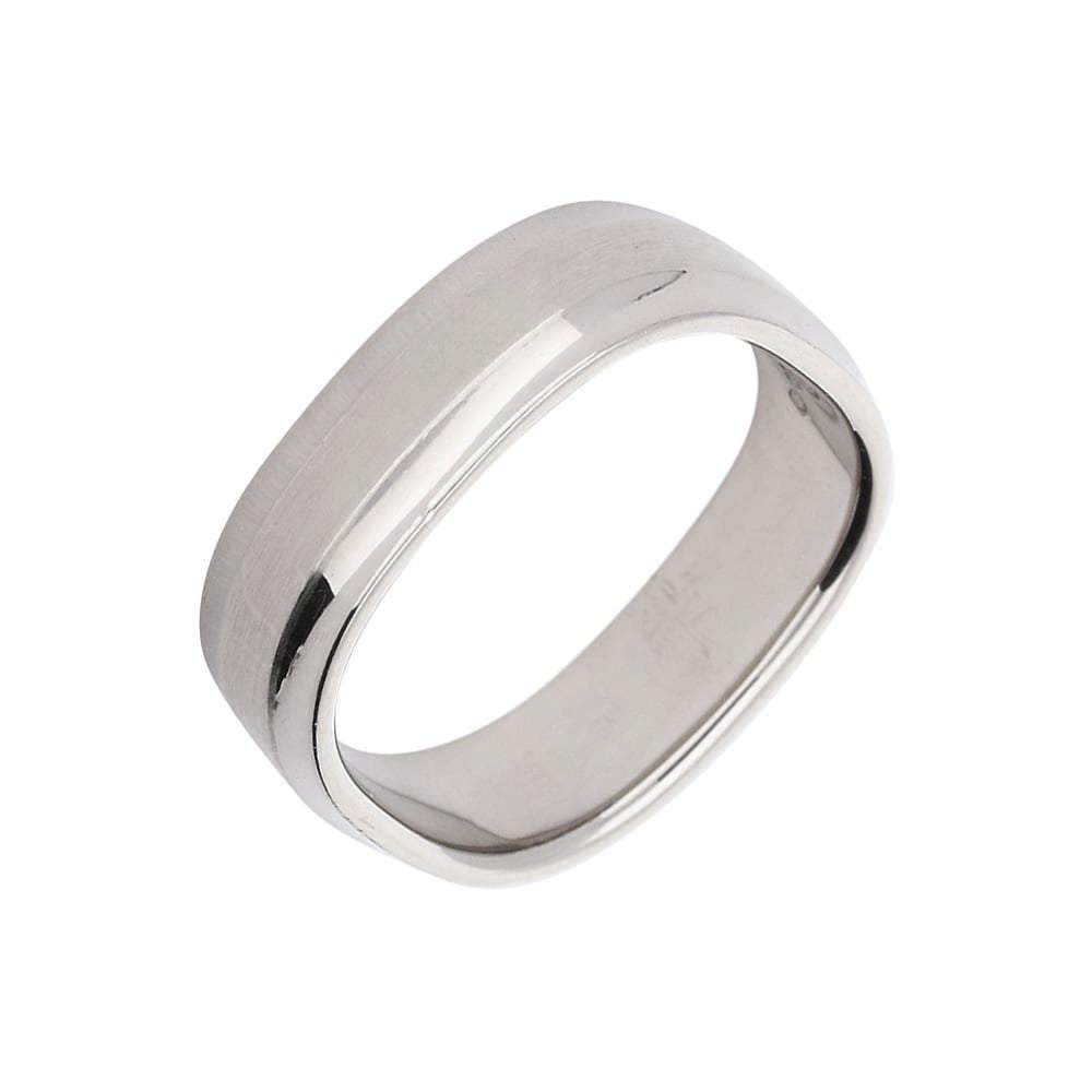 Furrer Jacot Ring 18ct white gold square band with two tone