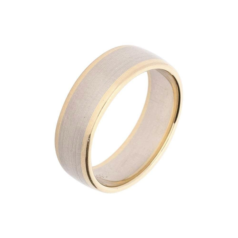 Furrer Jacot Ring Furrer Jacot 18ct white gold band with rose gold edges