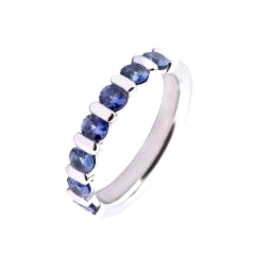 Furrer Jacot Ring Furrer Jacot 18ct white gold blue sapphire half eternity band