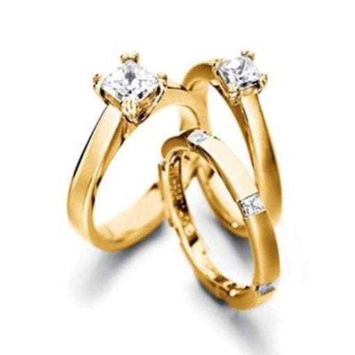Furrer Jacot Ring Furrer Jacot 18ct yellow gold and princess diamond 0.75ct ring