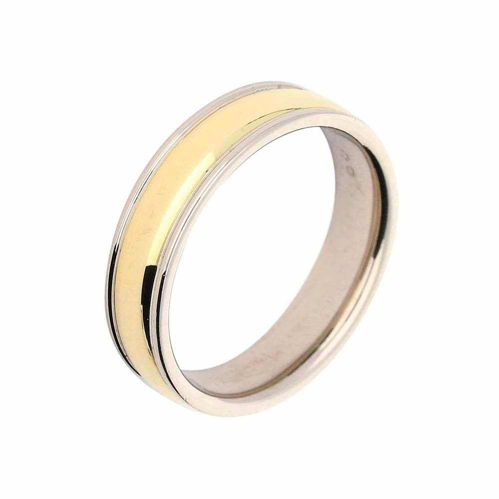 Furrer Jacot Ring Furrer Jacot 18ct yellow gold band with white gold eges