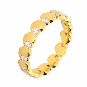 Furrer Jacot Ring Furrer Jacot 18ct yellow gold circles band with 14 diamonds