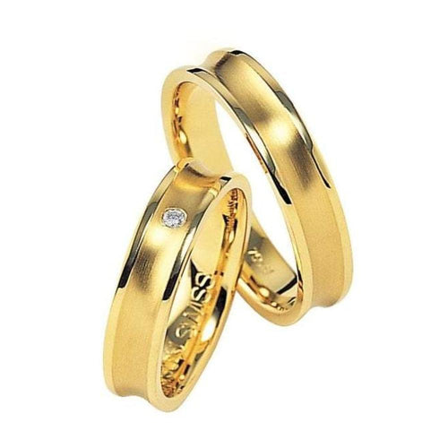 Furrer Jacot Ring Furrer Jacot 18ct yellow gold concave band