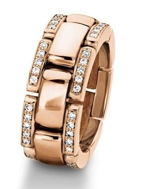 Furrer Jacot Ring Furrer Jacot diamond edged watch style band