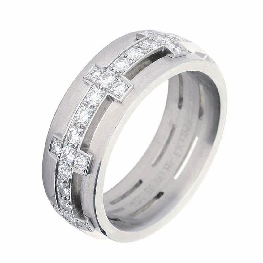 Furrer Jacot Ring Furrer Jacot Diamond half set chilli pepper ring