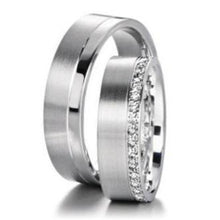 Load image into Gallery viewer, Furrer Jacot Ring Furrer Jacot diamond half set edged band