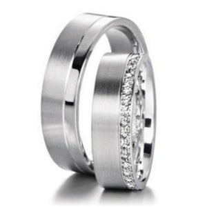 Furrer Jacot Ring Furrer Jacot diamond half set edged band