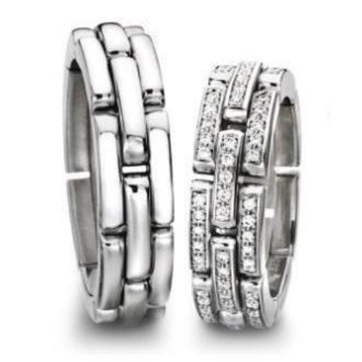 Furrer Jacot Ring Furrer Jacot full diamond set chain style band
