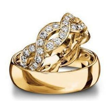 Load image into Gallery viewer, Furrer Jacot Ring Furrer Jacot full diamond set woven band