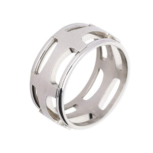 Furrer Jacot Ring Furrer Jacot Palladium band with cut out criss cross pattern